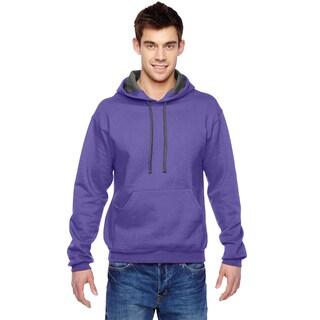 Men's Sofspun Hooded Purple Sweatshirt