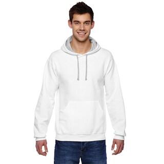 Men's Sofspun Hooded White Sweatshirt