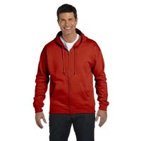 Men's Comfortblend Ecosmart 50/50 Deep Red Full-Zip Hood