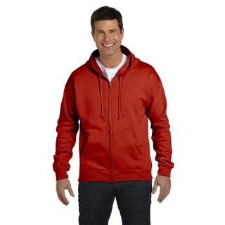 Men's Comfortblend Ecosmart 50/50 Deep Red Full-Zip Hood (XL)