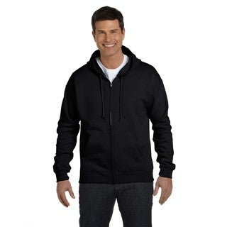 Men's Comfortblend Ecosmart 50/50 Black Full-Zip Hood (XL)