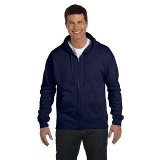 Men's Comfortblend Ecosmart 50/50 Navy Full-Zip Hood (XL)