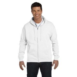 Men's Comfortblend Ecosmart 50/50 Full-Zip Hood White Pullover (XL)