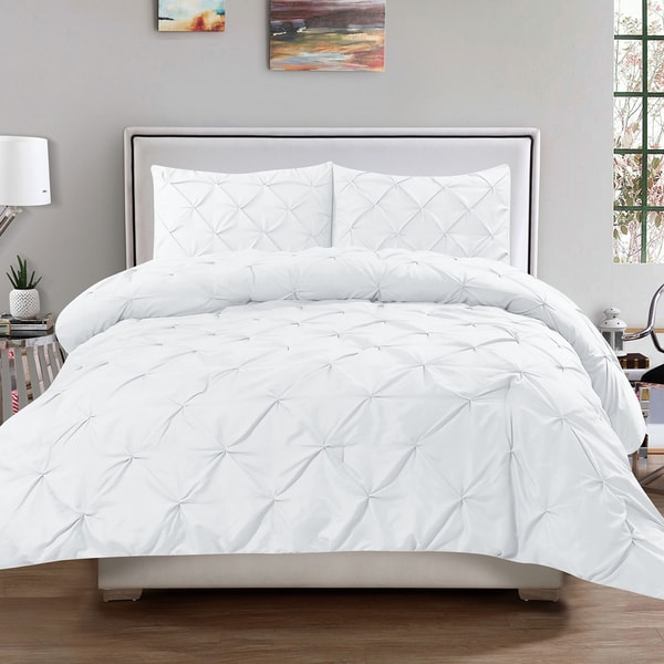 Luxury 3 Piece Pinch Pleat Duvet Cover Set Free Shipping