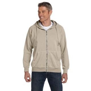 Men's Garment-Dyed Full-Zip Sandstone Hood