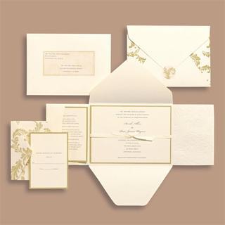 Brides Ivory Swirl 30-count Invitation Kit