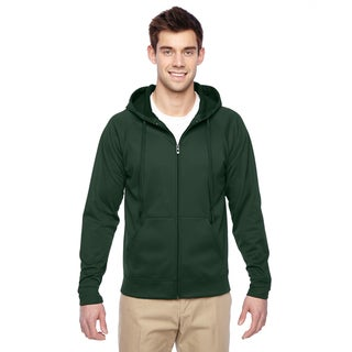 Men's Forest Green Sport Tech Fleece Full-Zip Hood