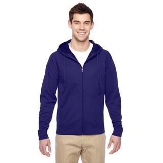 Men's Sport Tech Fleece Full-Zip Deep Purple Hood (XL)