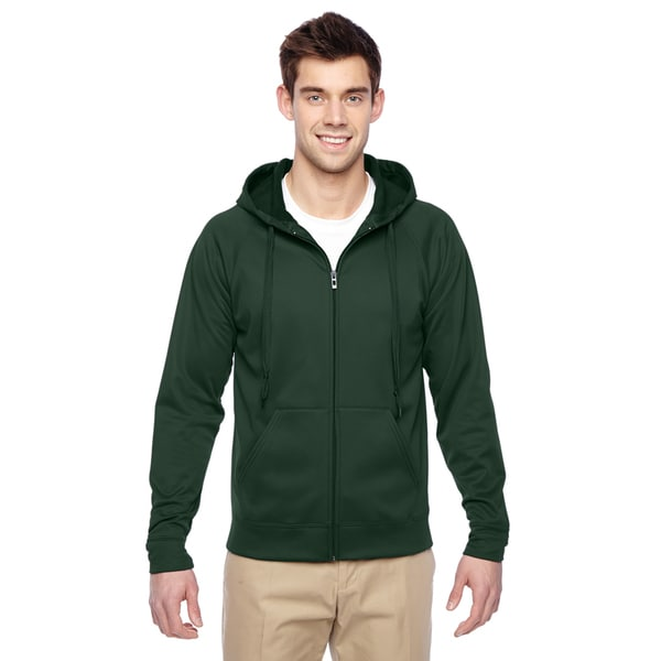 4edf947eb63 Men  x27 s Sport Tech Fleece Full-Zip Hood Forest Green Pullover Hood