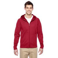 Men's Sport Tech Fleece Full-Zip Hood True Red Pullover Hood (XL)