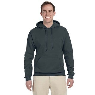 Men's 50/50 Nublend Fleece Black Heather Pullover Hood