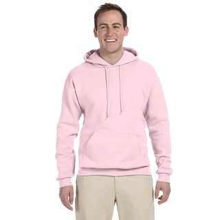 Men's 50/50 Nublend Fleece Classic Pink Pullover Hood (XL)