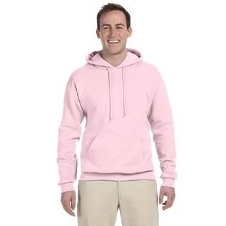 Men's 50/50 Nublend Fleece Classic Pink Pullover Hood (XL)