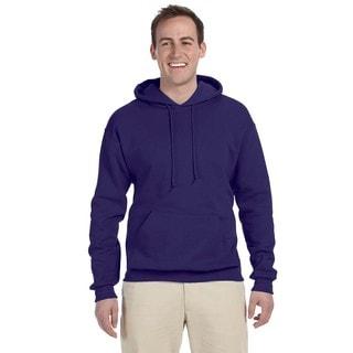 Men's Deep Purple 50/50 Nublend Fleece Pullover Hood
