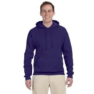 Men's Deep Purple 50/50 Nublend Fleece Pullover Hood (XL)