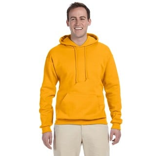 Men's Gold 50/50 Nublend Fleece Pullover Hood (XL)