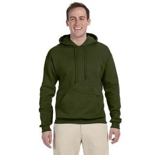 Men's 50/50 Nublend Fleece Military Green Pullover Hood()