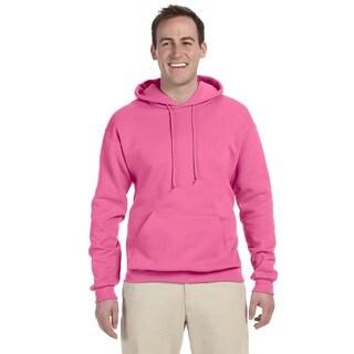 Men's 50/50 Nublend Fleece Neon Pink Pullover Hood()