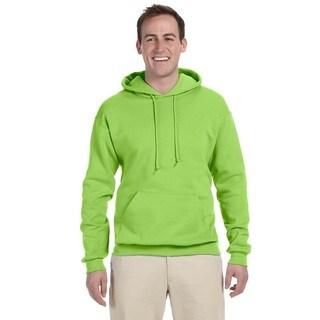 Men's 50/50 Nublend Fleece Neon Green Pullover Hood()