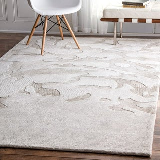 nuLOOM Contemporary Abstract Ivory Rug (5' x 8')