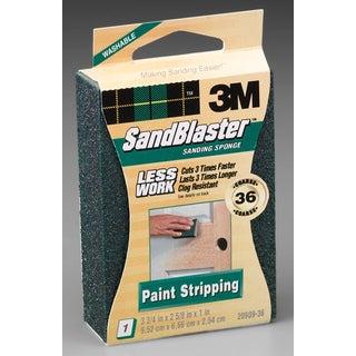 3M 20909-36 36 Grit SandBlaster Paint Stripping Sanding Sponge Block