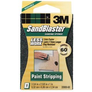 3M 20909-60 60 Grit SandBlaster Paint Stripping Sanding Sponge Block