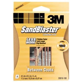 3M 20916-180 180 Grit SandBlaster Between Coats Sanding Sponge Pad