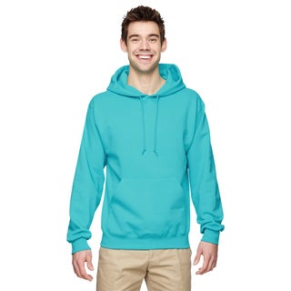 Men's 50/50 Nublend Fleece Scuba Blue Pullover Hood