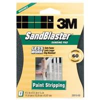 3M 20918-60 60 Grit SandBlaster Paint Stripping Sanding Sponge Pad