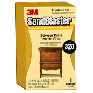 "3M 9566 2-5/8"" X 4-1/2"" X 1"" 320 Grit Sanding Sponge"