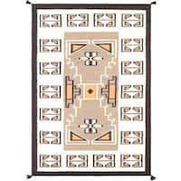 Nain Decorative Hand-woven Wool Area Rug (6' x 9') - Multi