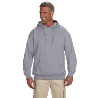 Men's Organic/Recycled Heathered Fleece Pullover Athletic Grey Hood