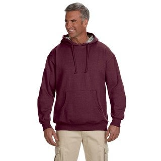 Men's Organic/Recycled Heathered Fleece Pullover Berry Hood (XL)