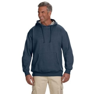 Men's Organic/Recycled Heathered Fleece Pullover Water Hood