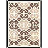 Indian American Decorative Hand-woven Wool Multicolor Area Rug (4'2 x 6') - Multi