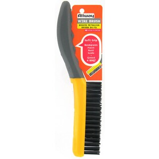 "Allway Tools SB416 10"" Soft Grip Carbon Steel Shoe Handle Wire Brush"