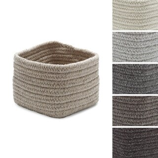Coloniel Mills Natural Wool Square 11-inch Storage Basket