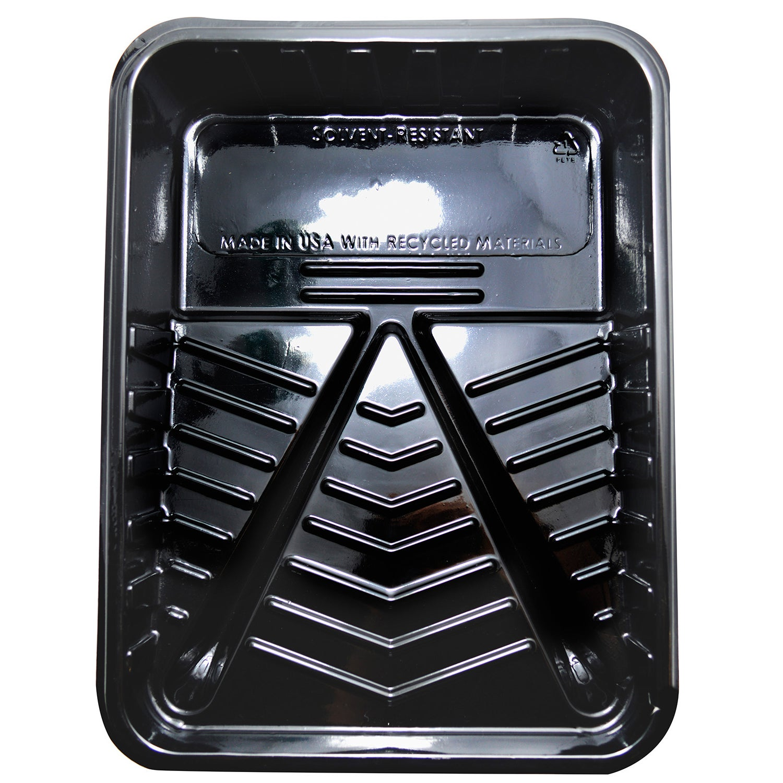 Quali Tech Manufacturing PET-100 9 Black Plastic Paint Tray (Paint Trays)