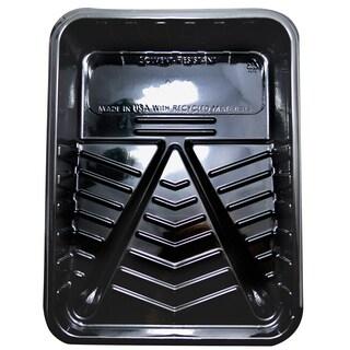 "Quali Tech Manufacturing PET-100 9"" Black Plastic Paint Tray"