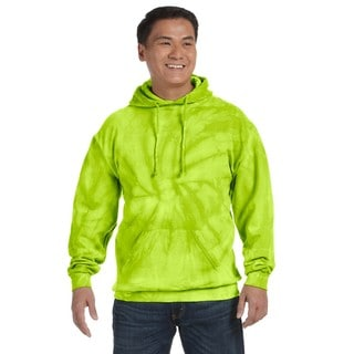 Men's Tie-Dyed Pullover Spider Lime Hood