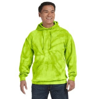 Men's Tie-Dyed Pullover Spider Lime Hood (XL)