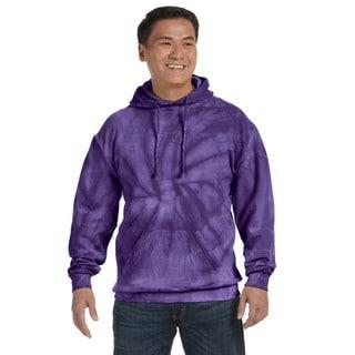 Men's Tie-Dyed Pullover Spider Purple Hood