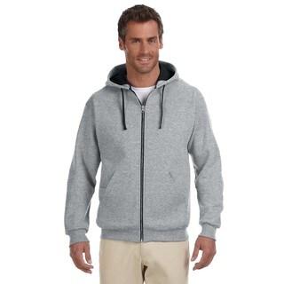 Men's 50/50 Nublend Contrast Full-Zip Oxford/Black Hood