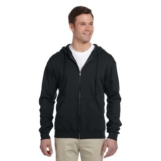 Men's 50/50 Nublend Fleece Full-Zip Black Hood