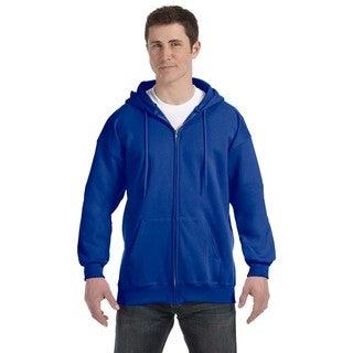 Men's Deep Royal Ultimate Cotton 90/10 Full-Zip Hood