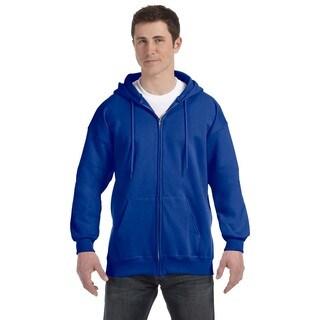 Men's Deep Royal Ultimate Cotton 90/10 Full-Zip Hood (XL)
