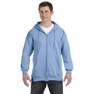Men's Light Blue Ultimate Cotton 90/10 Full-Zip Hood (XL)