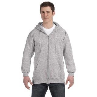 Men's Light Steel Ultimate Cotton 90/10 Full-Zip Hood (XL)