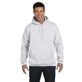 Men's Ultimate Cotton 90/10 Pullover Ash Hood (XL)