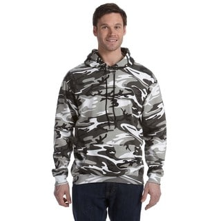 Camouflauge Men's Urban Woodland Pullover Hooded Sweatshirt (XL)